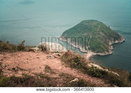 View Of Ap Lei Pai (ap Lei Chau, South Hk Island) Seen From Yuk Kwai Shan (mount Johnson) Located In