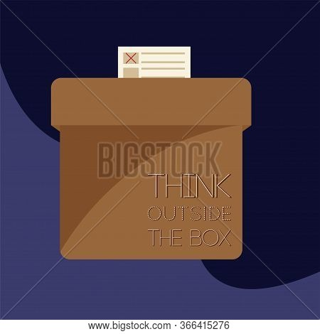 Voting Box Over A Colored Background. Elections Day - Vector