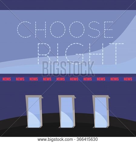 United States Elections Poster. Debate Room - Vector