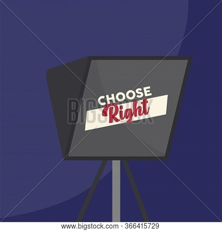 United States Elections Poster. Lantern. Choose Right - Vector