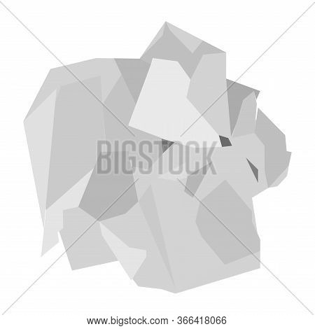 Isolated Crumpled Paper Over A White Background - Vector