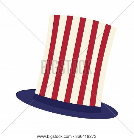 Isolated Traditional American Hat - Vector Illiustration Design