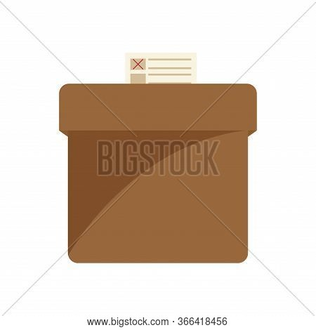 Isolated Voting Box. Elections Day - Vector Illustration