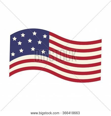 Isolated Flag Of United States - Vector Illustration