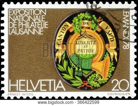 Saint Petersburg, Russia - May 05, 2020: Postage Stamp Issued In The Switzerland With The Image Of T