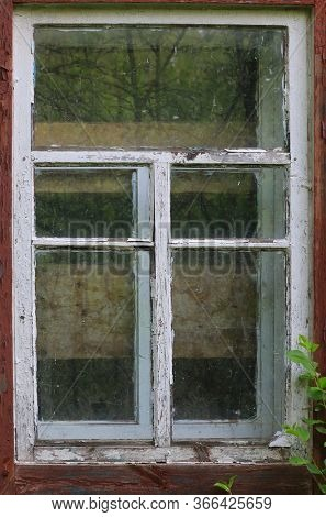 abstract window of old lost house
