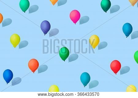 Multicolored Balloons As A Symbol Of Heterogeneity Of Society. Modern Isometric Style. The Concept O