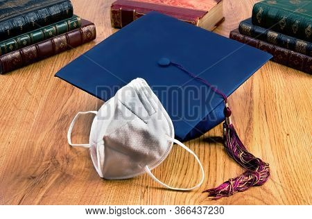 School Graduation With The N95 Face Mask.
