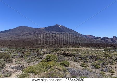 The Teide Volcano In Tenerife. Spain. Canary Islands. The Teide Is The Main Attraction Of Tenerife.