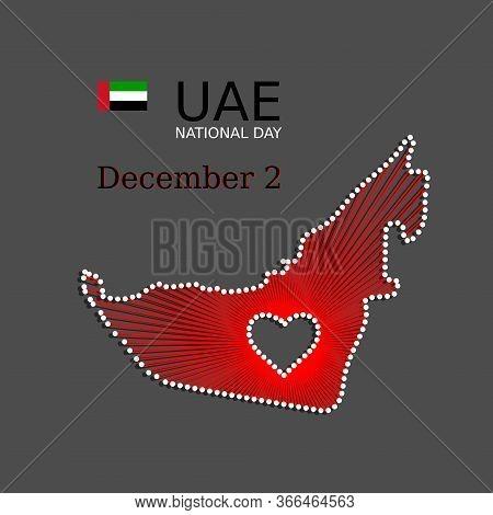 Uae National Day Art Banner, Background, Poster. Patriotic Illustration Of Uae United Arab Emirates