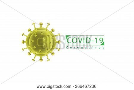 Coronavirus (2019-ncov). Covid 19 Ncp Virus Symbol. Vector Illustration In Eps10.