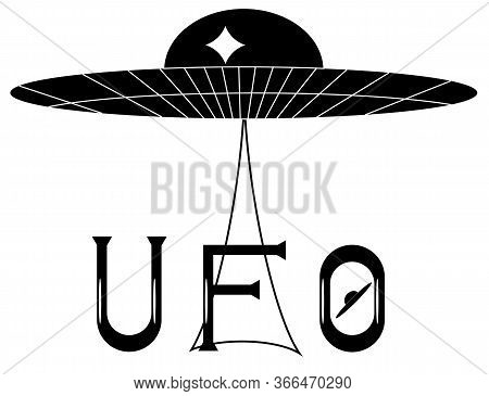 Ufo, Technology, Symbol, Spacecraft, Sci-fi, Object, Isolated, Invasion, Illustration