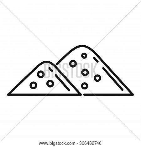 Sugar Pile Icon. Outline Sugar Pile Vector Icon For Web Design Isolated On White Background