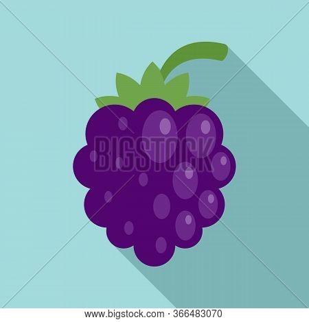 Dessert Blackberry Icon. Flat Illustration Of Dessert Blackberry Vector Icon For Web Design