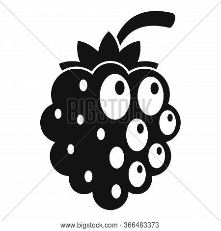 Fruit Blackberry Icon. Simple Illustration Of Fruit Blackberry Vector Icon For Web Design Isolated O