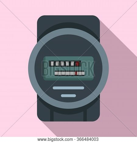 Electric Counter Icon. Flat Illustration Of Electric Counter Vector Icon For Web Design