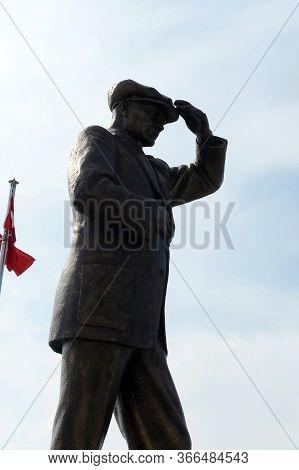Marmaris,turkey - November 2, 2019:monument To Kemal Ataturk