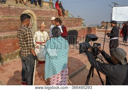 Movie Set Of A Bollywood Film At Kirtipur On Nepal