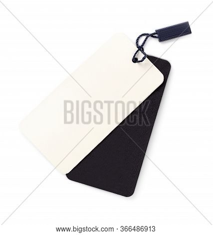 The Blank Tag Tied With String. Price Tag, Gift Tag, Sale Tag, Address Label