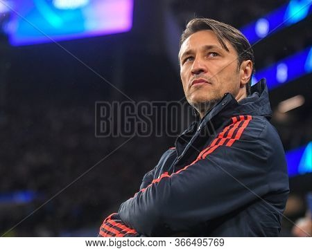 London, England - October 1, 2019: Bayern Head Coach Niko Kovac Pictured Ahead Of The 2019/20 Uefa C