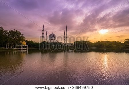 Sunrise Over The Mosque.