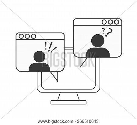 Webinar Concept, Online Course, Distant Education, Video Lecture, Internet Group Conference, Trainin