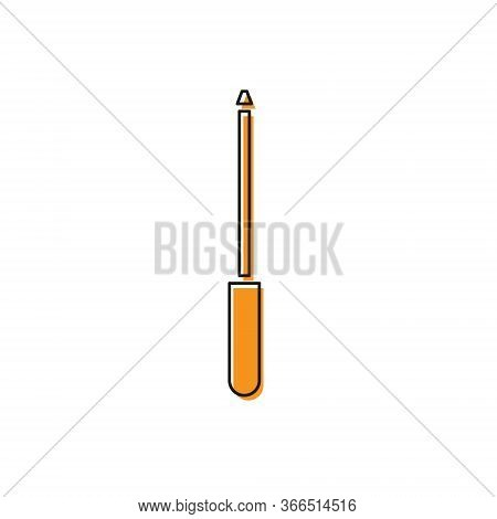 Orange Knife Sharpener Icon Isolated On White Background. Vector