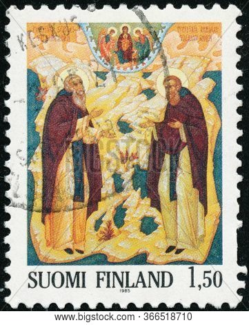 Vintage Stamp Printed In Finland 1985 Show Orthodox Icon