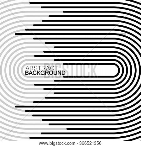 Abstract Background Of Semicircles With Lines, Striped Geometric Shapes, Vector Illustration, Eps 10