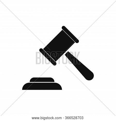 Judge Gavel Icon Isolated On White Background. Judge Gavel Icon In Trendy Design Style. Judge Gavel