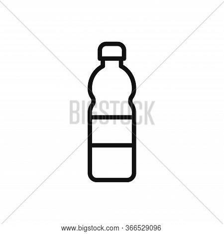 Plastic Bottle Icon Isolated On White Background. Plastic Bottle Icon In Trendy Design Style. Plasti