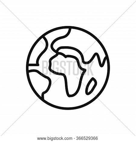World Planet Icon Isolated On White Background. World Planet Icon In Trendy Design Style. World Plan