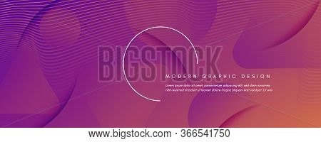 Abstract Fluid Background. 3d Futuristic Concept. Flow Lines Brochure. Orange Abstract Fluid Backgro