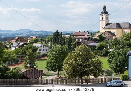 Hilly Landscape And View Rural Community Sankt Martin - Austria