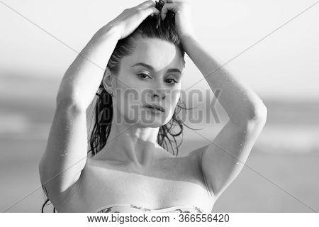 Swim Wear Beach Fashion Woman Vogue Bw