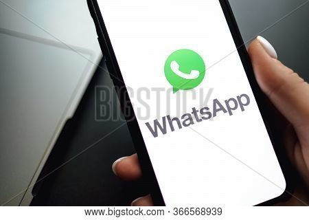 Screen Shot Of Whatsapp App Messenger. Whatsapp The Most Popular Messaging App