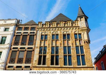 Historical House Loewenstein In Aachen, Germany