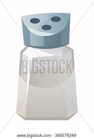 Salt Shaker Isolated On White Background Vector Illustration