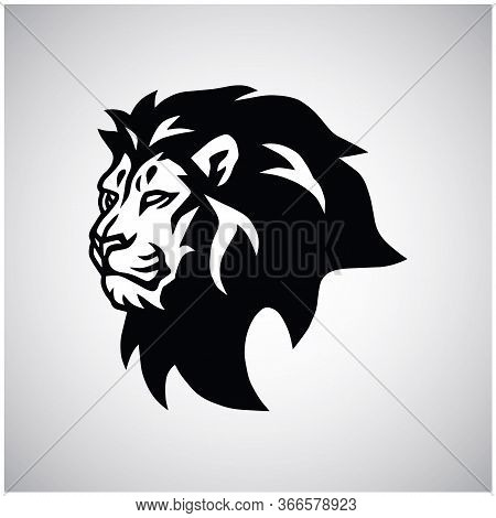 Wild Lion Head Logo Vector Esport Mascot Design