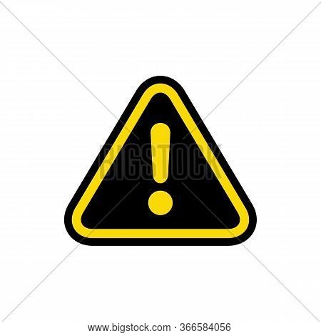 Caution Icon With Triangle Form. Danger Sign On Isolated Background. Caution Warning Icon.triangle W