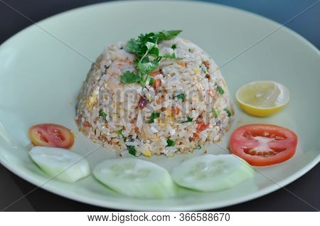 Stir Fried Rice, Stir Fried Rice With Shrimp And Egg