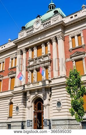 Belgrade / Serbia - May 16, 2020: National Museum Of Serbia, The Largest And Oldest Museum In Belgra