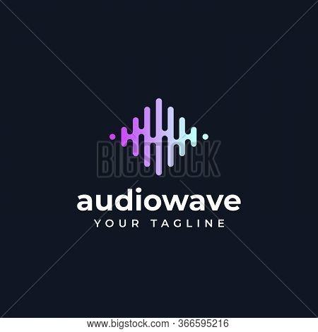 Audio Wave, Sound, Music, Frequency Logo Design