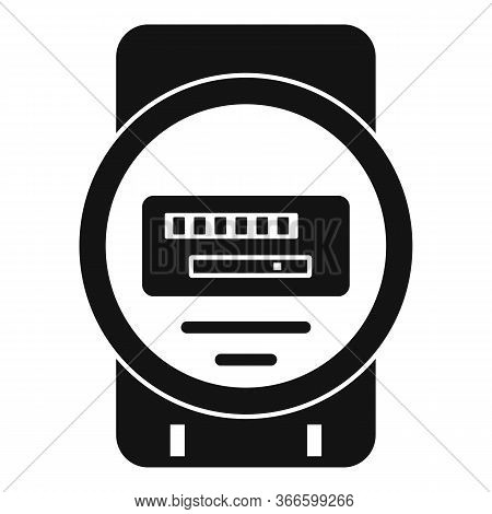 Electric Counter Icon. Simple Illustration Of Electric Counter Vector Icon For Web Design Isolated O
