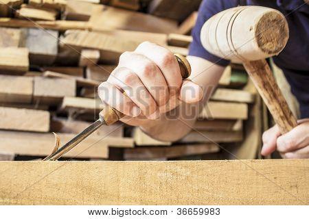 cincel de madera gubia
