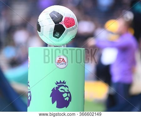 London, England - September 28, 2019: The Official Matchball Pictured Ahead Of The 2019/20 Premier L