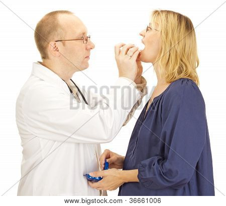 Doctor Apply Patient A Mouthguard