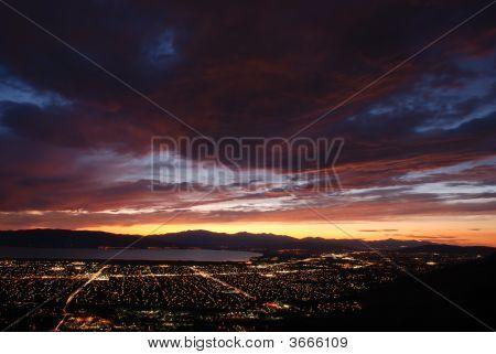 Dusk At Utah Valley