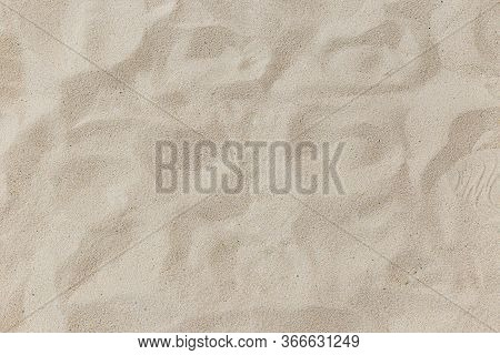 Natural Sand Stone Texture Background. Sand On The Beach As Background. Art Cream Concrete Texture F