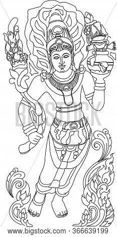 Historical Sri Lankan Mura Gala Guardstone Stone Carving Illustrator